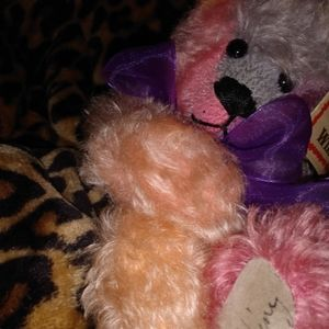 Signed  real fur Sally winey bear
